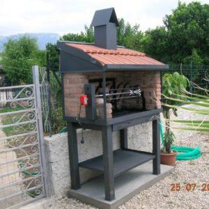 Barbecue con girarrosto forni magliano srl for Forni magliano srl