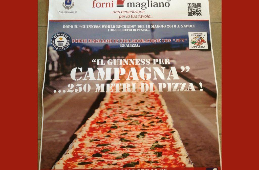 IL GUINNES PER CAMPAGNA ….250 METRI DI PIZZA